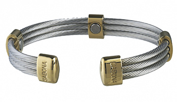 Sabona Trio Cable Stainless/Gold Magnetic