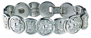 Sabona .925 Sterling Round Flower Magnetic