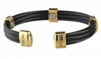 Sabona Trio Cable Black/Gold Magnetic