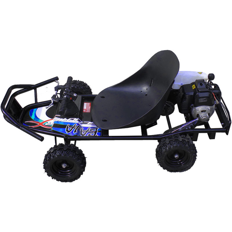 ScooterX Baja Off Road 49cc Gas Go-Kart - Black/Blue