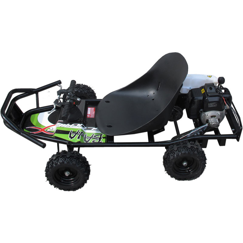 ScooterX Baja Off Road 49cc Gas Go-Kart - Black/Green