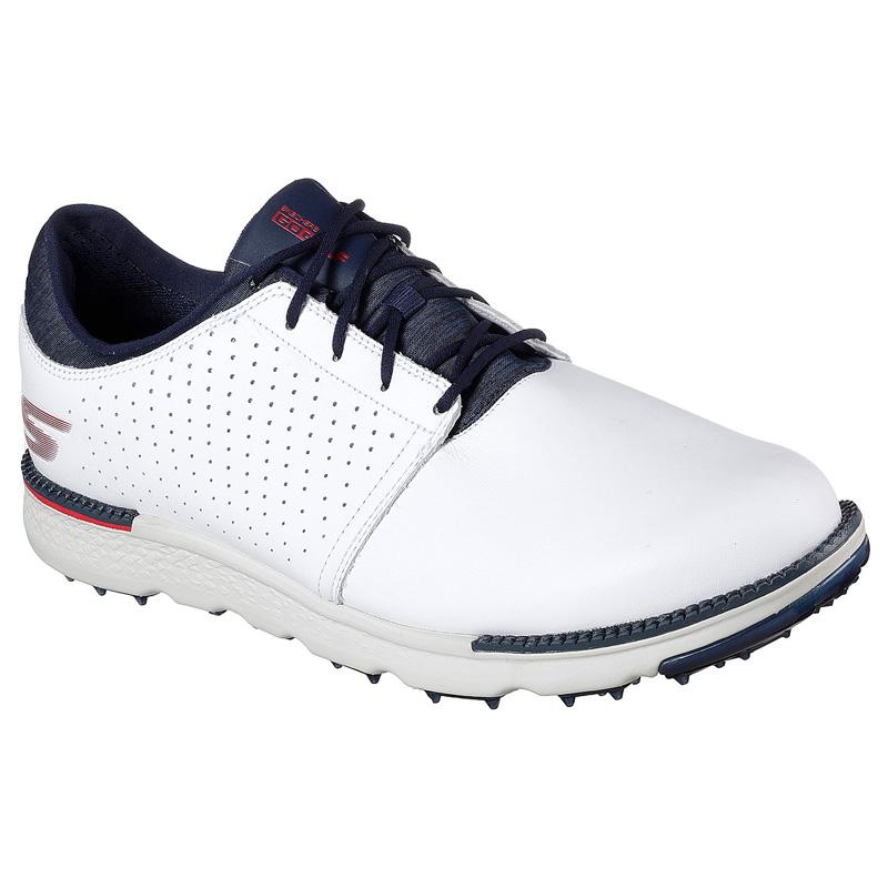 2019 Skechers Go Golf Elite V3 Approach LT Golf Shoes - White/Navy