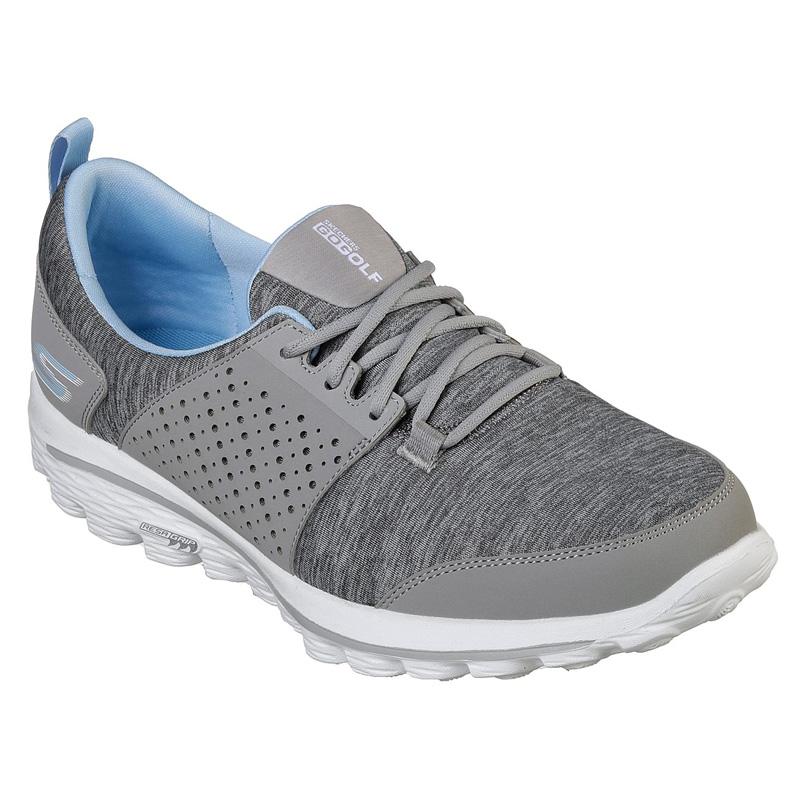 2019 Skechers Go Walk 2 Sugar Golf Shoes - Womens -Gray/Blue