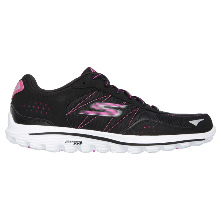 Skechers GO WALK 2 Golf Shoes -Lynx Ballistic - Womens - Black/Hot Pink