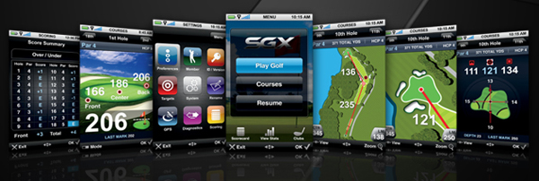 skygolf sgx golf gps screenshots