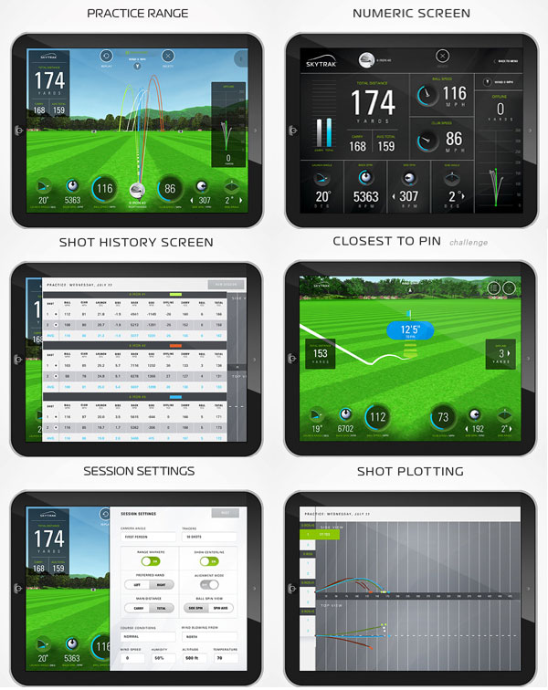 skytrack golf launch monitor screenshots