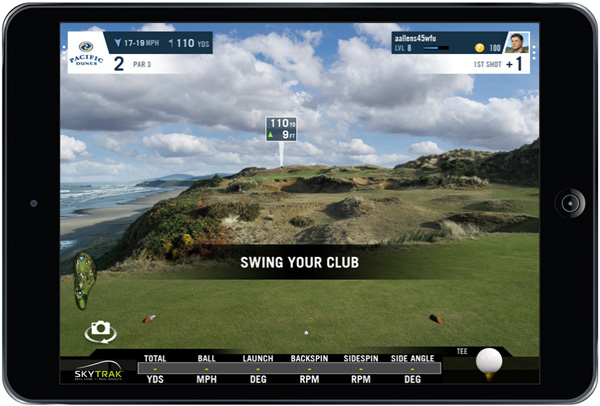 skytrak launch monitor and wgt screenshot