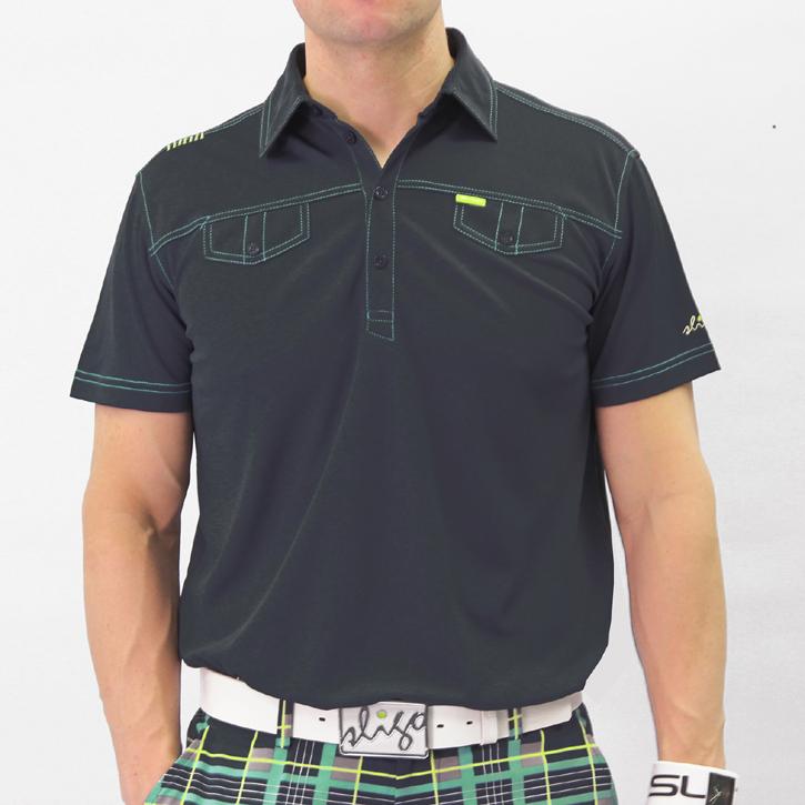Sligo Ethan Golf Shirt - Iron Blue Image