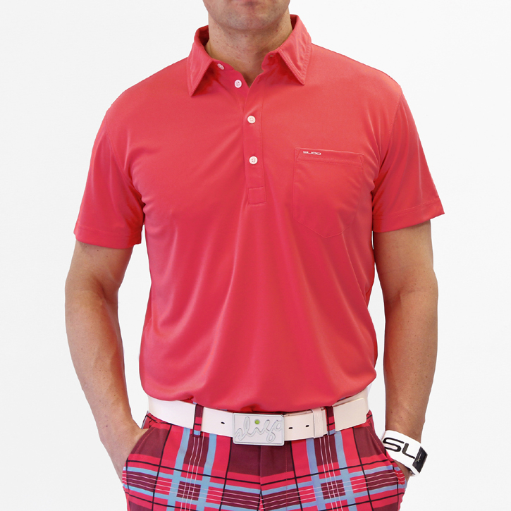 Sligo Martin Golf Shirt - Electric Coral Image