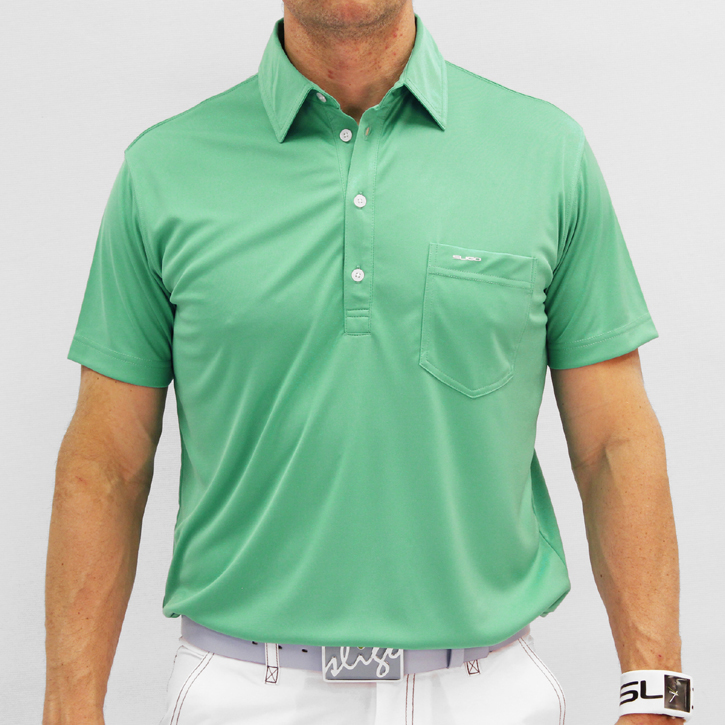 Sligo Martin Golf Shirt - Paris Green