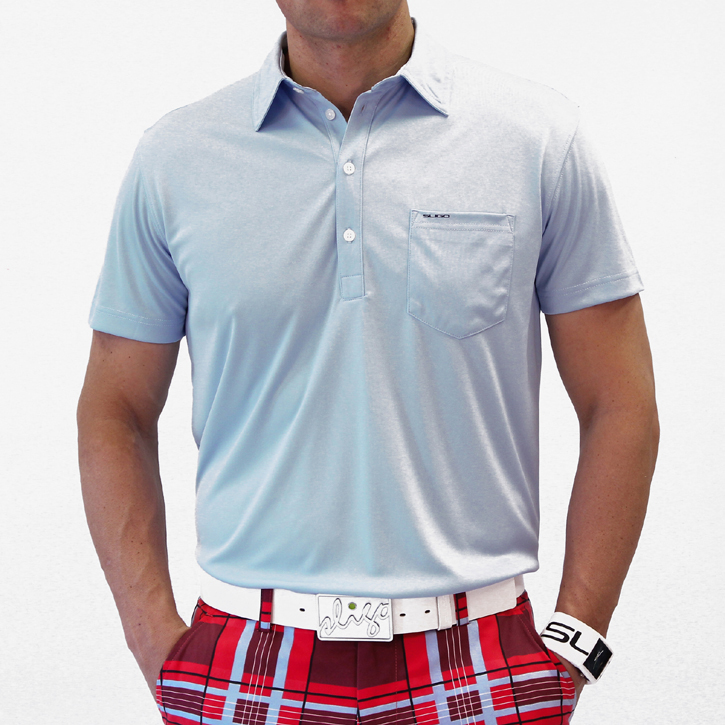 Image of Sligo Martin Golf Shirt - Sky