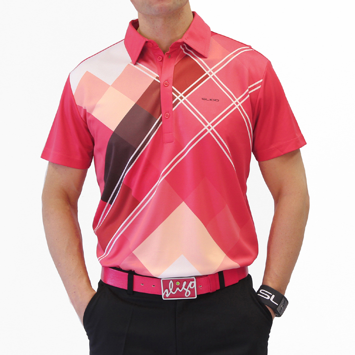 Sligo Massey Golf Shirt - Electric Coral