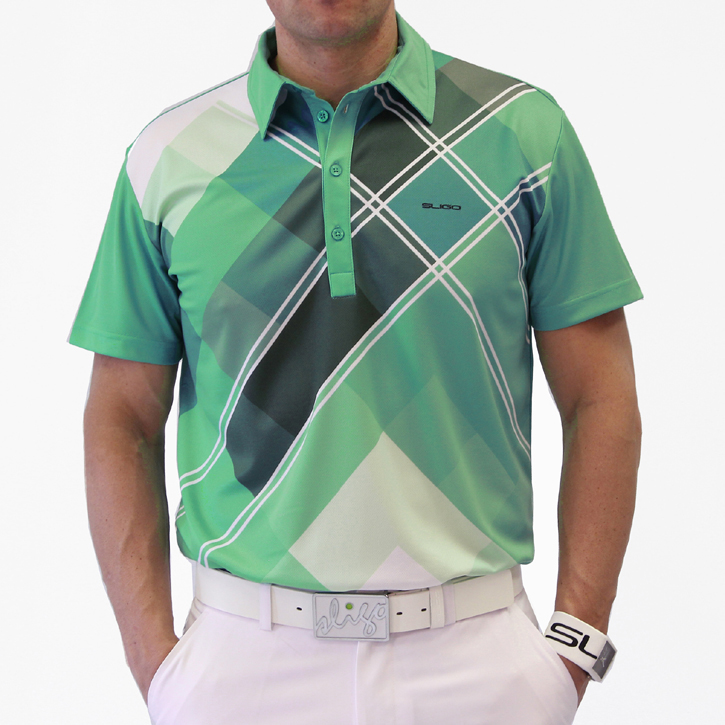 Sligo Massey Golf Shirt - Paris Green