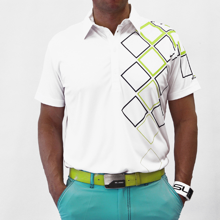 Sligo Obrien Golf Shirt - White