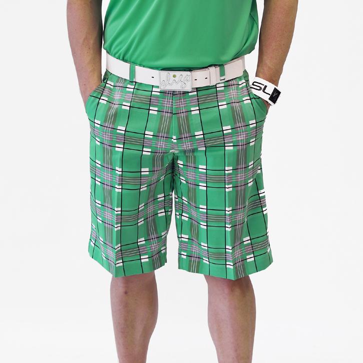 Sligo Plaid Golf Shorts - Paris Green Image