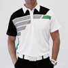 Sligo Robinson Golf Shirt - White/Paris Green