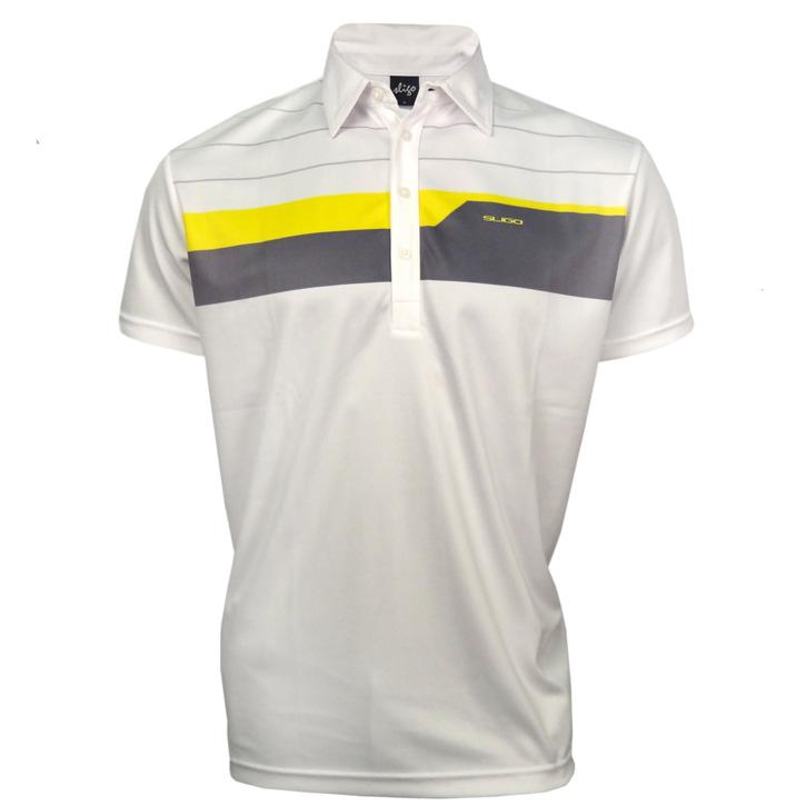 Sligo vibe golf shirt white yellow at for Yellow golf polo shirts