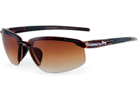 Sundog Bomb Sunglasses - Gradient Brown/Maroon Dye Demi