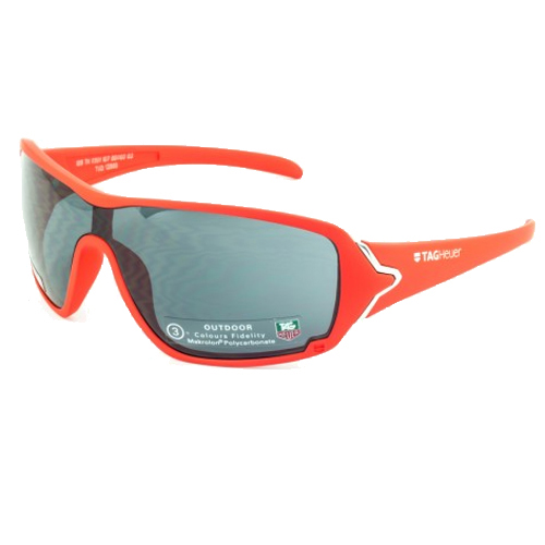 Tag Heuer Racer Sunglasses - Red Frame/Gray Outdoor Lens