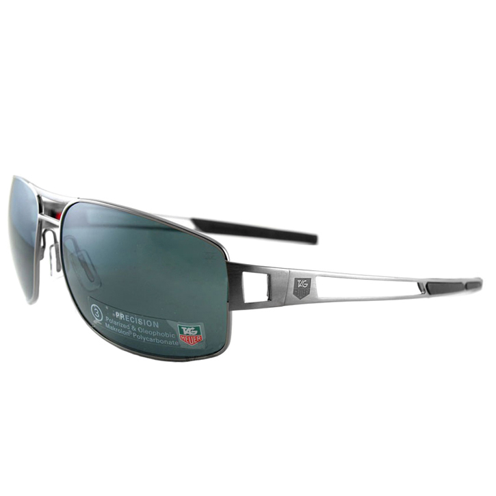 Tag Heuer Speedway Sunglasses - Dark Frame/Green Precision Lens
