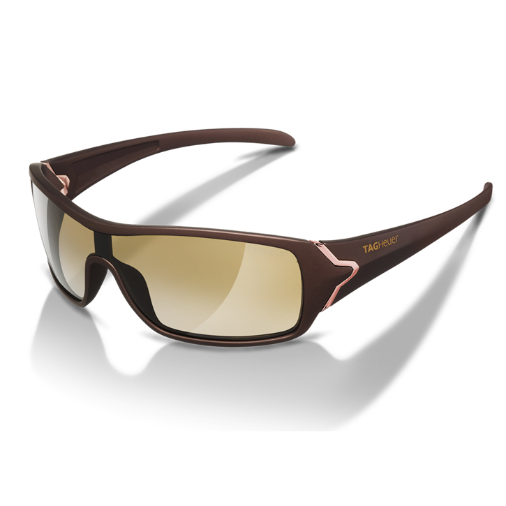 Tag Heuer Racer Sunglasses - Red Gold Frame/Brown Precision Lens