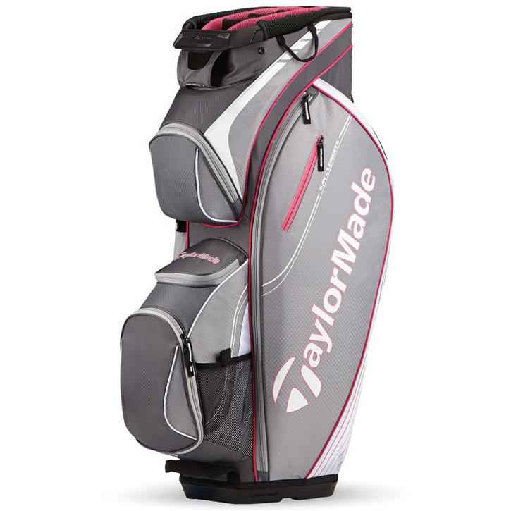 2016 TaylorMade San Clemente Cart Bag - Gray/Pink