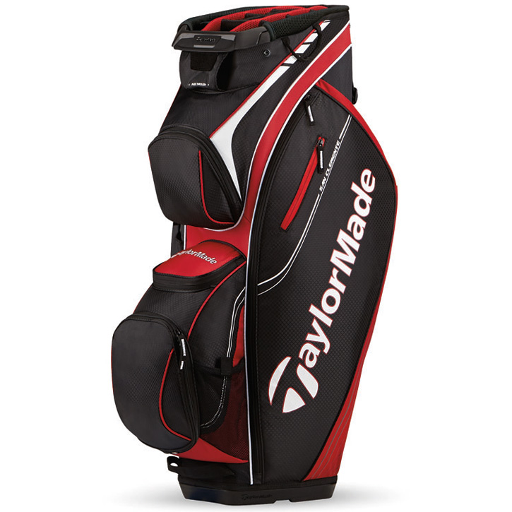 2016 TaylorMade San Clemente Cart Bag - Red/Black/White