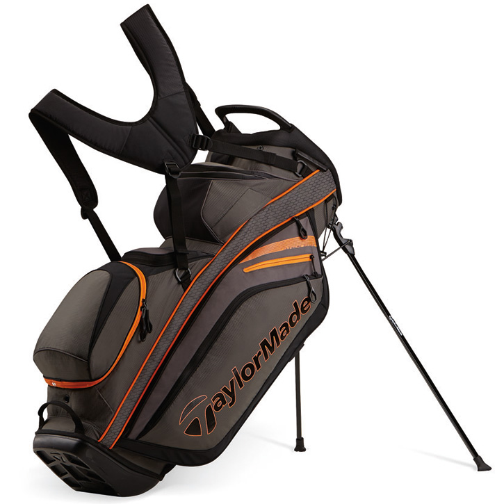 2016 TaylorMade Supreme Hybrid Stand Bag - Gray/Orange