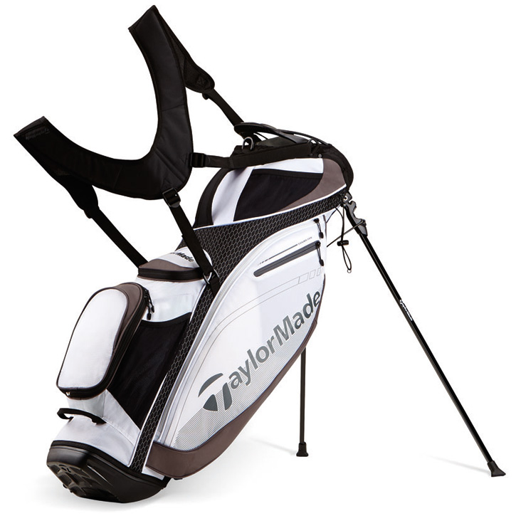 2016 TaylorMade TourLite Stand Bag - White/Black/Charcoal