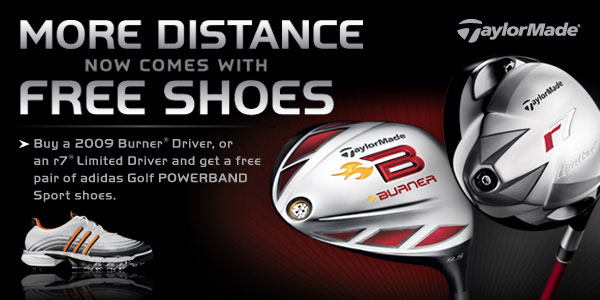 TaylorMade Shoe Promo