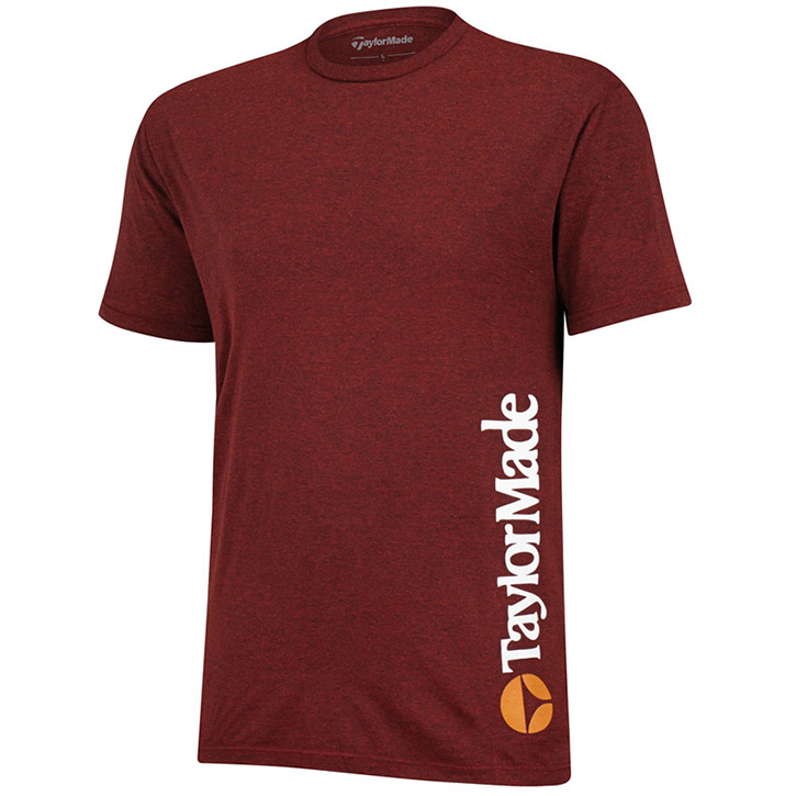TaylorMade Heritage Bubble Golf T-Shirt - Brick
