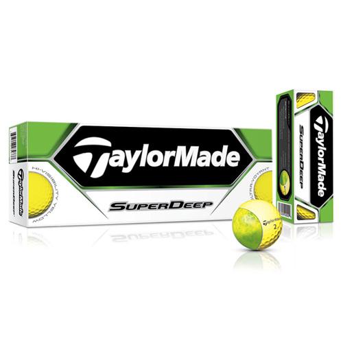 TaylorMade SuperDeep Golf Balls - Yellow (1 Dozen)