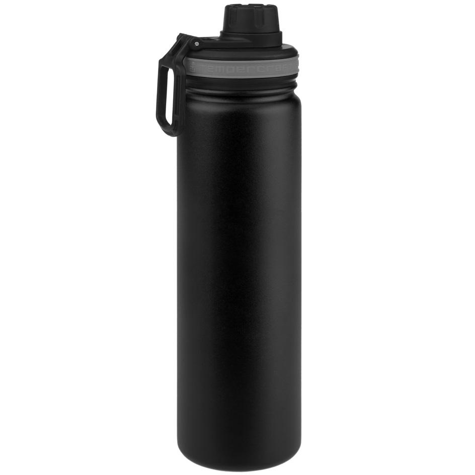 Tempercraft Insulated Water Bottle 22oz Sport - Black
