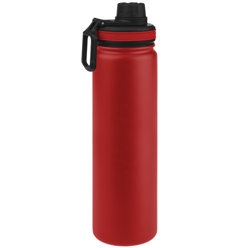 Tempercraft Insulated Water Bottle 22oz Sport - Red