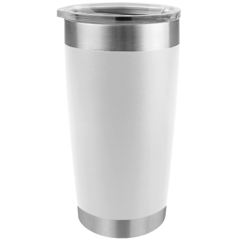 Tempercraft Stainless Steel Insulated Tumbler 20oz - White