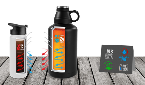 tempercraft stainless steel water bottle