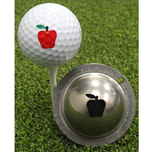 Marker | Apple | Mark | Golf | Ball | Tin | Cup | Big
