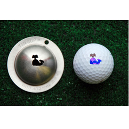 Tin Cup Golf Ball Marker - Moby