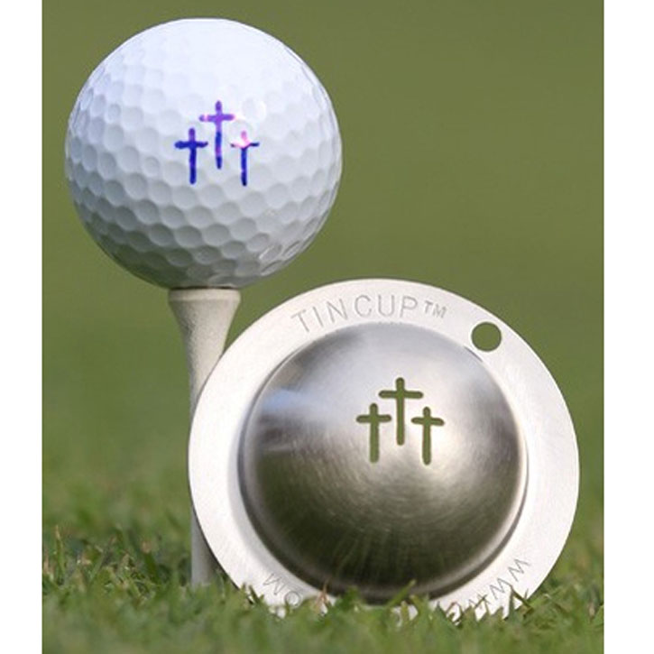 Marker | Mark | Golf | Ball | Tin | Cup