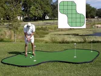 Tour Links 12x12 Indoor/Outdoor Putting Green
