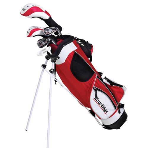 Tour Edge HT Max-J Junior Golf Set (5 Club) - Red Age 9-12