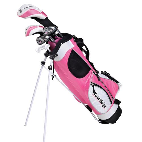 Tour Edge HT Max-J Junior Golf Set (5 Club) - Pink Age 9-12