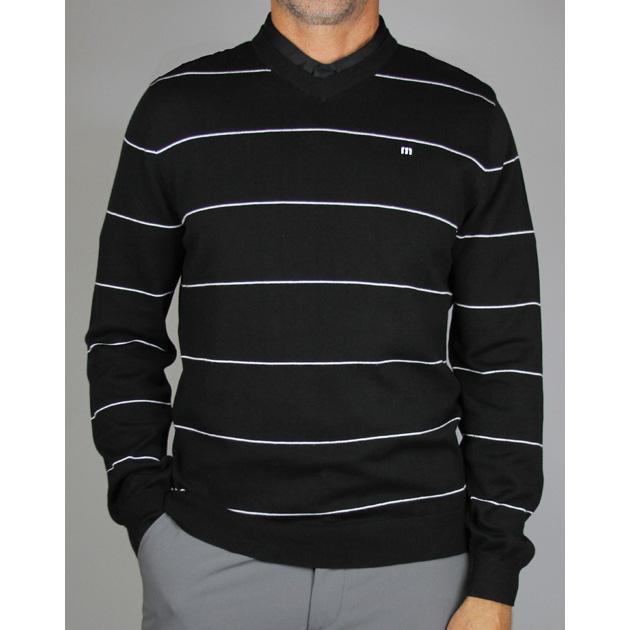 Travis Mathew Anthony V-Neck Golf Sweater - Black