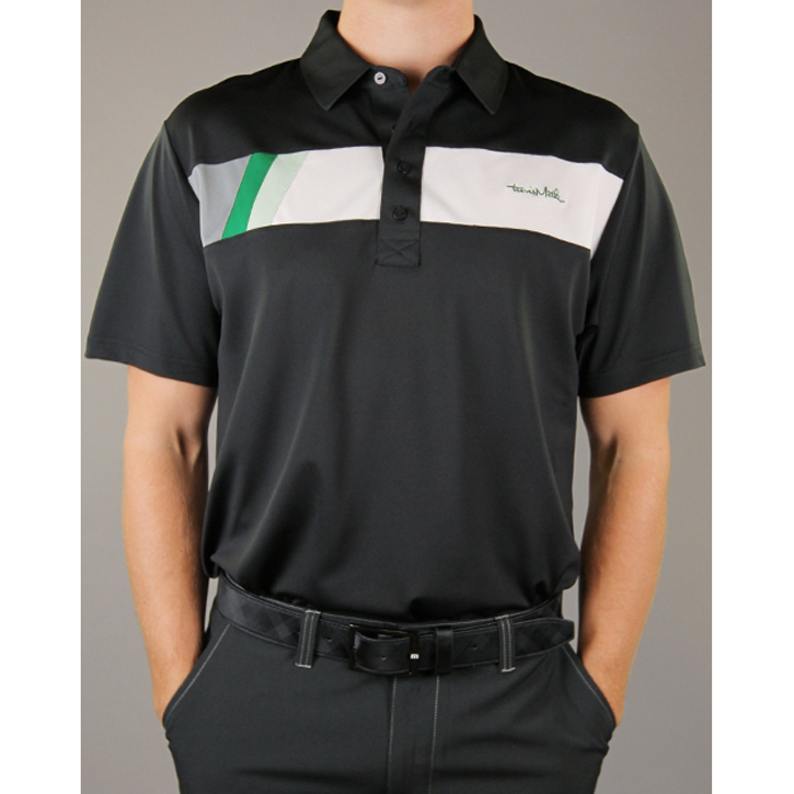 Travis Mathew Brando Golf Shirt - Black