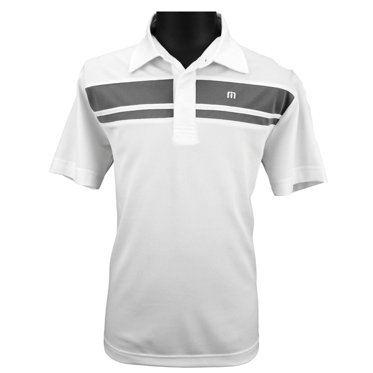 Travis Mathew J-Timer Junior Golf Shirt - White