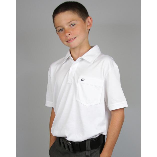 Travis Mathew Junior OG Golf Polo - White Image