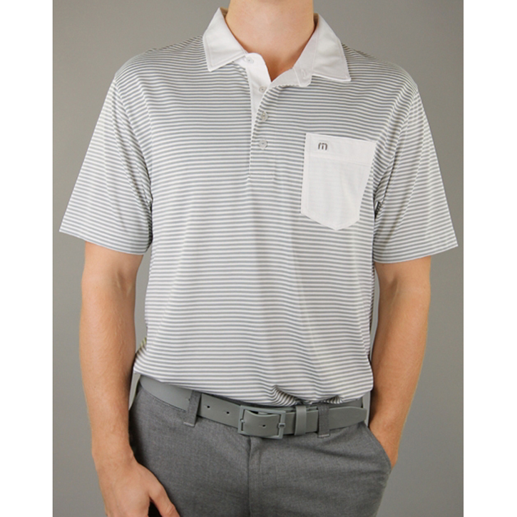 Travis Mathew Mallinger Golf Shirt - Rock Grey