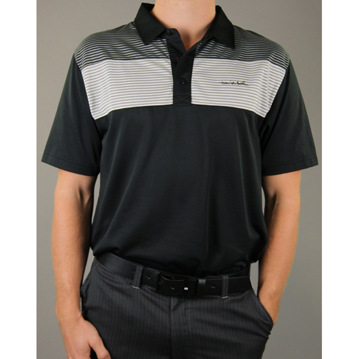 Travis Mathew Mommasulo Golf Shirt - Black