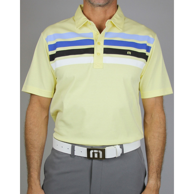 Image of Travis Mathew Wilson Golf Polo - Lemonade
