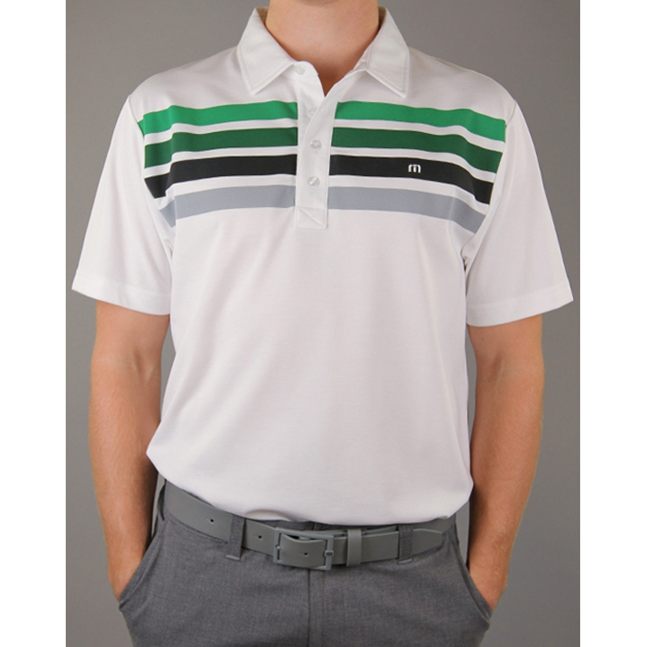 Travis Mathew Wilson Golf Shirt - White